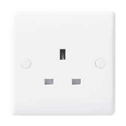 BG Nexus 823 13A Unswitched Single Socket White Moulded Plastic