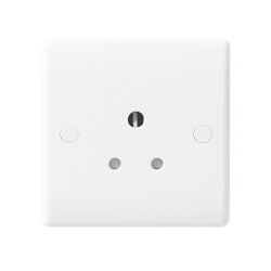 BG Nexus 829 1 Gang 5A Round Pin Unswitched Socket Outlet Moulded White