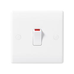 BG Nexus 830 20A Double Pole Switch (Single Switch) Moulded White