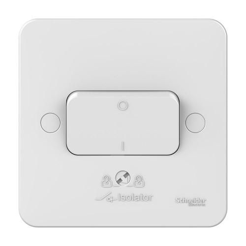 Lisse 1 Gang 3 Pole 10A Fan Isolator Switch in White Moulded, Schneider GGBL1013 Fan Switch