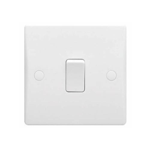 1 Gang Intermediate 16AX Single Switch Ultimate Moulded White Plastic Schneider GU1014
