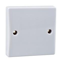 1 Gang 25A Flex Outlet Plate Moulded White Plastic Slimline Plate Schneider GU2033