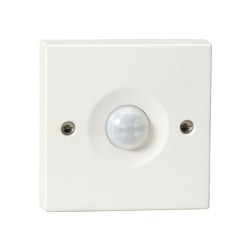 10A Unswitched PIR Movement Sensor 5m x 120deg Wall / Ceiling Mounted in White