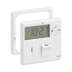 7 Day/24h Timer and Fused Spur Combined for Towel Rails, Fans, and Heaters in White
