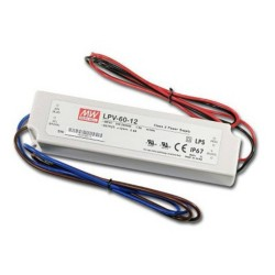 12V DC 60W Constant Voltage LED Driver Non-Dimmable IP67 rated 0-5A Output, Astro Lighting 6008006