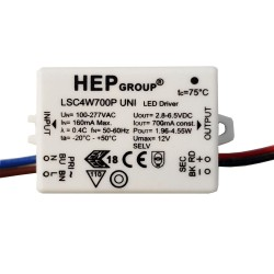 700mA 2W - 4.55W Constant Current LED Driver Non-Dimmable for Wiring LED in Series, Astro 6008051