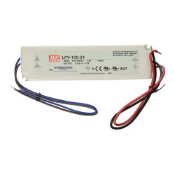 IP67 24V 100W Non-Dimmable Constant Voltage LED Driver 4.2A, Mean Well LPV-100-24