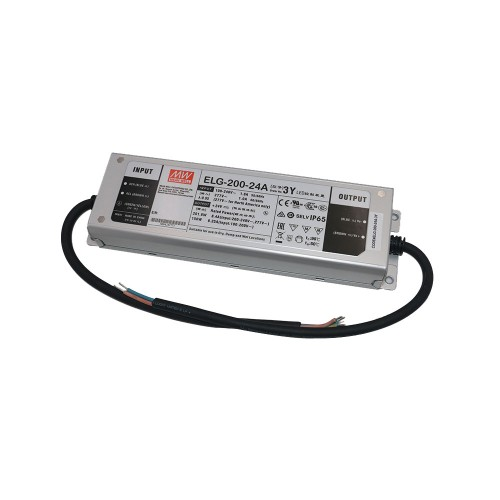 24V 200W 8.4A Constant Voltage and Constant Current LED Driver Non-Dimmable Mean Well ELG-200-24A-3Y