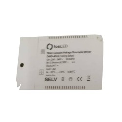 40W 24V Triac Constant Voltage Dimmable LED Driver (Trailing Edge) for 5-100% LED Dimming, IP20 White LED Driver