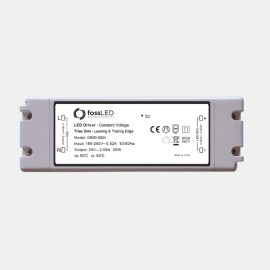 50W 24V 5-100% Constant Voltage Dimmable LED Driver (Leading & Trailing Edge) IP20 fossLED DIMD-5024