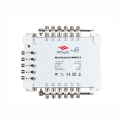 Whyte Series 5 Lite WM512L Standalone Multiswitch 12-Way - 5 In 12 Out c/w Output Earth Bars Only