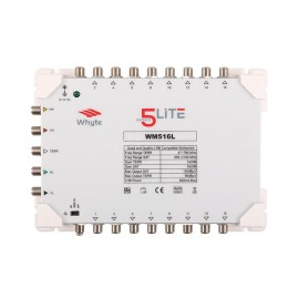 Whyte Series 5 Lite WM516L 16 Way Standalone Multiswitch 5 x 16 c/w PSU, 5 In 16 Out (Earth Bars Not Included)
