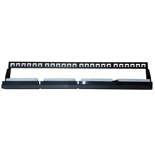 24 Way CAT6 Patch Panel, 24 Port Patch Panel for CAT6 Data Cable with IDC Terminals 482 x 85 x 46mm