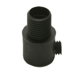 10mm Male Threaded Black Plastic Cord Grip - Grub Screw Cord Grip in Black