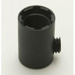 10mm Female Threaded Black Plastic Cord Grip - Grub Screw Cord Grip in Black