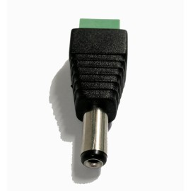 2.1mm DC Plug with Screw-in Terminals ideal for LED Tape Installations and CCTV
