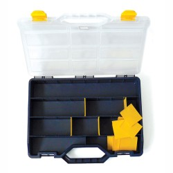 Empty Kit Box 375mm x 265mm x 60mm with Removable Inserts / Dividers