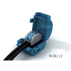 Wiska Mini Gel Insulated Junction Box 1 x 2 Way Shellbox, 2 Pole Lever Connector