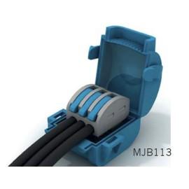 Wiska Mini Gel Insulated Junction Box 1 x 3 Way Shellbox, 3 Pole Lever Connector
