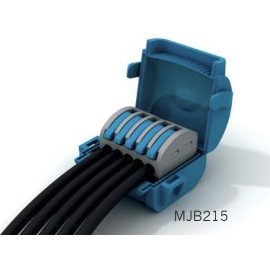 Wiska Mini Gel Insulated Junction Box 2 x 2 Way Shellbox, 5 Pole Lever Connector