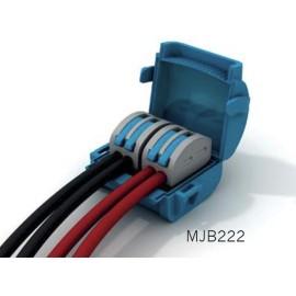 Wiska Mini Gel Insulated Junction Box 2 x 2 Way Shellbox, 2 x 2 Pole Lever Connector