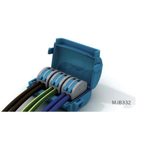Wiska Mini Gel Insulated Junction Box 3 x 2 Way Shellbox, 3 x 2 Pole Lever Connector