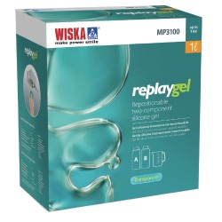 Wiska ReplayGel 2 x 0.5l Transparent Green Insulating Gel, 2 Components Repositionable Silicone Gel