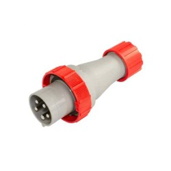 Lewden 63A 5 pin (3P+N+E) 400V Red Plug IP67 rated for General Use, Lewden 710346