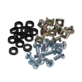 Rack Fixing Set: Cage Nut Pack x 50, M6 Nuts, M6 Bolts, and Plastic Washers