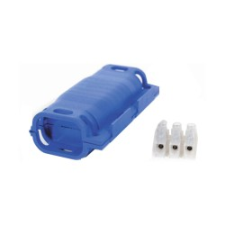 Wiska Shark 16A Connector Cable Retention with 3 Core Terminal Block, Gel Insulated