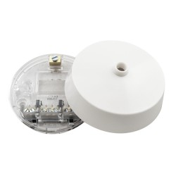 85mm diameter x 32.5mm Ceiling Rose Base in Polycarbonate White (base only)