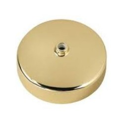 Decorative Ceiling Rose with Brass Cover and Polycarbonate 3.5 Inch Diameter Base