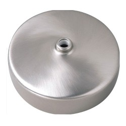 Decorative Ceiling Rose Steel Cover and Polycarbonate 3.5 Inch Diameter Base