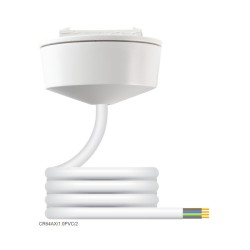 Hager CR64AX/2.0 White Ceiling Rose with 4 Core 1mm2 2m PVC Cable 6A for max. 5kg