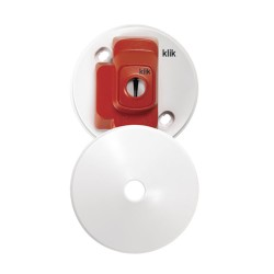 Hager CR64AX Klick 4 Pin Plug-in Ceiling Rose 6A in White, max. 5kg