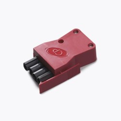 Vitesse 4 Pole Luminaire Connector in Red for Rear or Side Entry CP Electronics VITM4-LPR