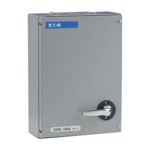 Eaton MEM Exel2 TPN Fuse Switch Disconnector 100A 415V in Grey, IP41 MEM 100KXTNC2F