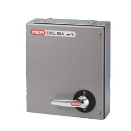 Eaton MEM Exel2 TPN Fuse Switch Disconnector 63A 415V in Grey, IP41 MEM 60KXTNC2F