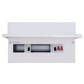 BG CFUD6610A 10 Way Consumer Unit with 100A Switch, 2 x 63A 30mA Type A RCD with 8 FREE MCBs of your choice!