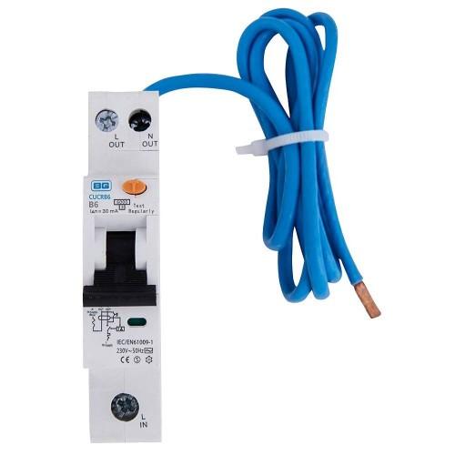 BG 6A RCBO Single Pole Type A 30mA 6kA B Curve for the BG Consumer Units, BG CUCRB6A Circuit Breaker