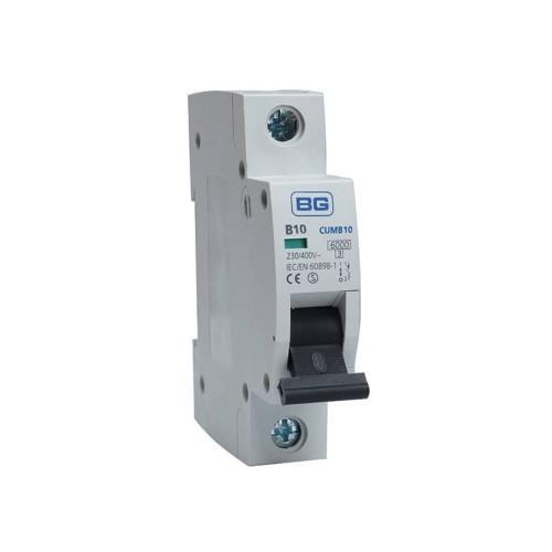 BG CUMB10 10A Miniature Circuit Breaker MCB Single Pole 6kA B Curve for BG Consumer Units