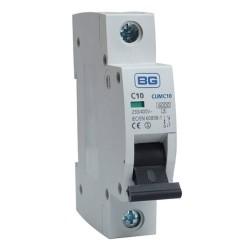 BG CUMC10 10A Type C MCB Single Pole 6kA Breaking capacity Miniature Circuit Breaker for BG Consumer Units