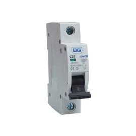 BG CUMC20 20A Type C MCB Single Pole 6kA Breaking capacity Miniature Circuit Breaker for BG Consumer Units