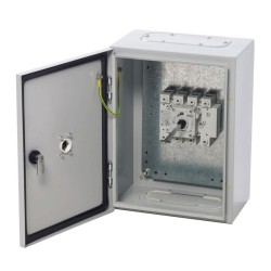 400A 3 Pole + Switch Neutral Enclosed Load Break Switch (IP65 rated), Safe Switch in Steel Enclosure