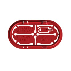 Hager VM02CE Cable Protection Entry Plate Red Insulated for Consumer Units