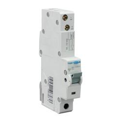 6A type C RCBO Electronic 1P 10kA, 30mA Type A (AC & Pulsating DC Sensitive) 1M Hager ADA156U