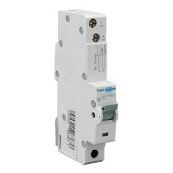 10A type C RCBO Electronic 1P 10kA, 30mA Type A(AC & Pulsating DC Sensitive) 1M Hager ADA160U