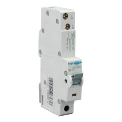 32A type C RCBO Electronic 1P 10kA, 30mA Type A(AC & Pulsating DC Sensitive) 1M Hager ADA182U