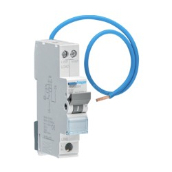 Hager ADA306G Single Pole 6A 30mA 6kA B Curve Reduced Height RCBO, Type A (AC and Pulsating DC Sensitive)