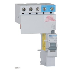 Hager one Module RCBO for 63A TPN, Earth Leakage add-on-block 3P 63A 30mA A Class 1mod Electronic